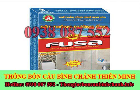 Bán bột thông bồn cầu Huyện Bình Chánh giá rẻ 0938087552
