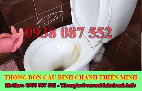 Thông bồn cầu tắc băng vệ sinh Huyện Bình Chánh 0938087552