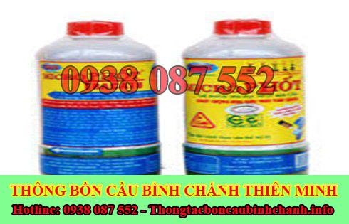 Bán bột thông cống nghẹt Huyện Bình Chánh giá rẻ 0938087552
