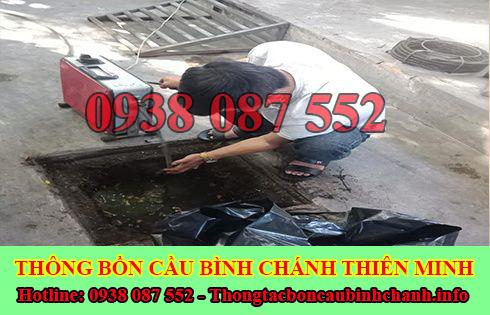 Sửa cống nghẹt Huyện Bình Chánh giá rẻ 0938087552 BH 5năm