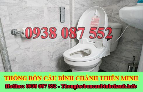 đội thợ sửa bồn cầu nhà vệ sinh bị nghẹt tại Huyện Bình Chánh.