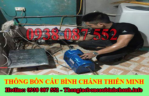 Thông đường ống nước bị tắc nghẹt Huyện Bình Chánh 0938087552