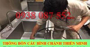 Thông bồn chậu rửa chén bát Huyện Bình Chánh Thiên Minh