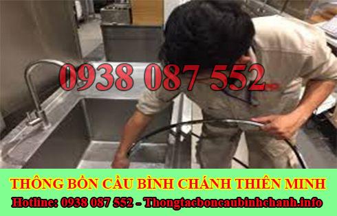 thông tắc nghẹt bồn rửa chén bát bồn rửa mặt lavabo Huyện Bình Chánh